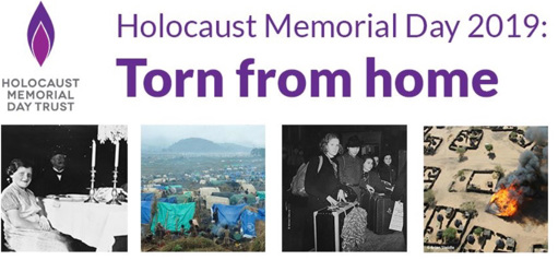 Banner for Holocaust Memorial Day 2019: Torn from home